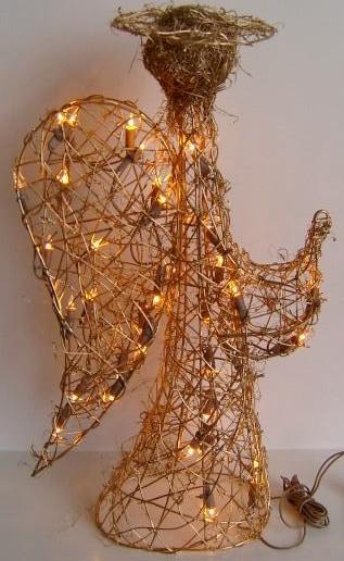 FY-06-001 kerst engel rotan lamp lamp