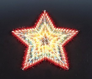 China manufacturer  cheap christmas star plastic frame light bulb lamp  company