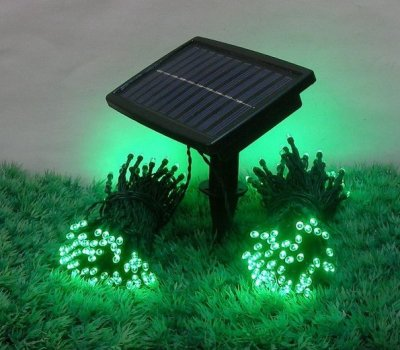 zonne energie 200 led string lights tuin kerst outdoor. Black Bedroom Furniture Sets. Home Design Ideas